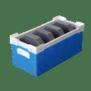 ピッキング効率化・上げ底段積み通い箱