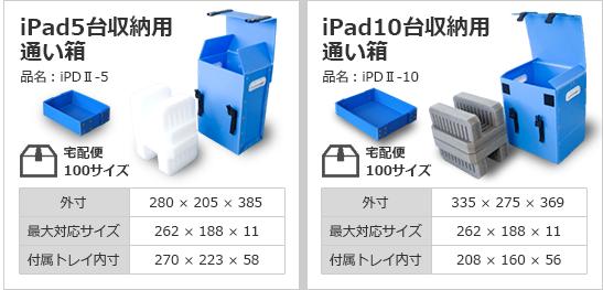 iPad5台収納用通い箱/iPad10台収納用通い箱